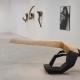 Aushalten . Pappel-Holzskulptur . Beate Debus . 2006