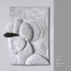 "Mappe ""Köpfe Masken"" (2011): Ausblick 1 . Holzrelief . 2011 . Beate Debus"