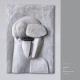 "Mappe ""Köpfe Masken"" (2011): Ausblick 2 . Holzrelief . 2011 . Beate Debus"