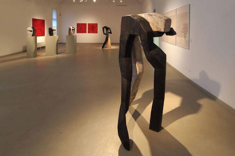 """Gemeinschaftsausstellung """"Mit der Wachheit der Sinne - aus der Tiefe der Stille"""" . Kunststation Kleinsassen 2016"""