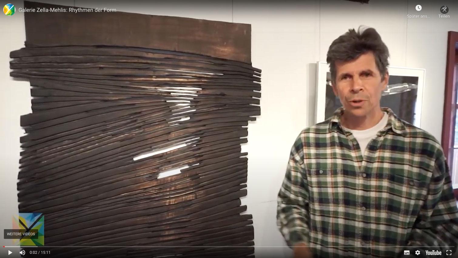 """Ausstellung """"Rhythmen der Form"""" . Beate Debus - Landschaftsstrukturen . Galerie im Bürgerhaus Zella-Mehlis 2020 (Video)"""