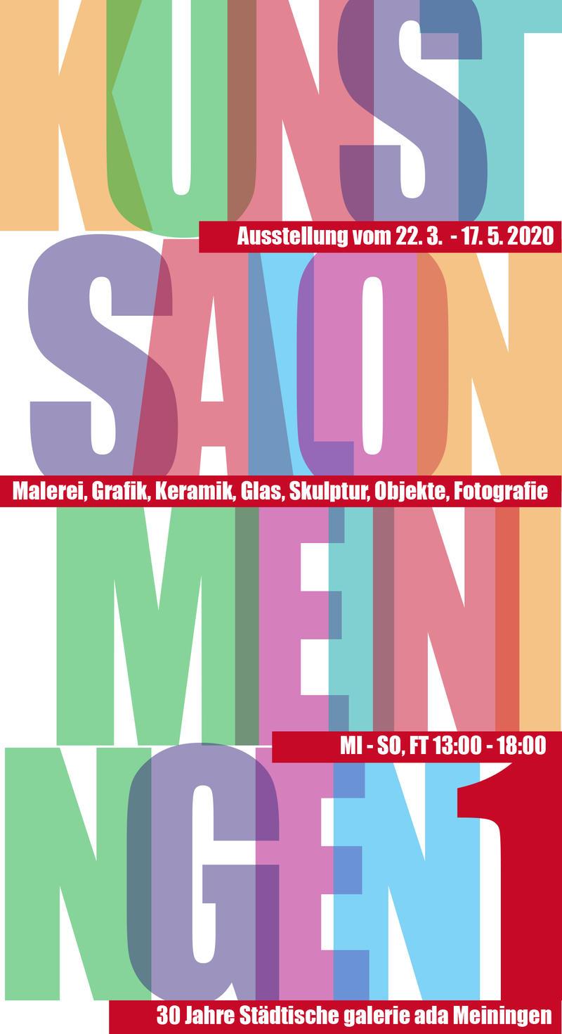Kunst Salon Meiningen 1 . Städtische galerie ada Meiningen 2020 (Plakat, Gestaltung: Dietrich Ziebart)