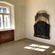"Ausstellung ""Nivard 1"" . Malerei Skulpturen . Holzskulptur ""Aufgang"" Beate Debus . Maria Bildhausen 2020"