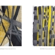 "Ockerdurchzogen | Gelb im Wald . Gouache Kreide Grafit . Beate Debus . 2019 (Katalog ""Rhytmen der Form"", 2020)"