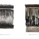 "Abendgras . Gouache Kreide Grafit | Holzrelief . Beate Debus . 2019 (Katalog ""Rhytmen der Form"", 2020)"