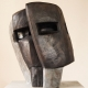 Doppelmaske . Bronzeskulptur . Beate Debus . 2013