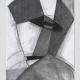 Maskenkopf . Kreidezeichnung . Beate Debus . 2009